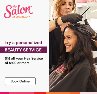 $15 off your hair service of $100 or more