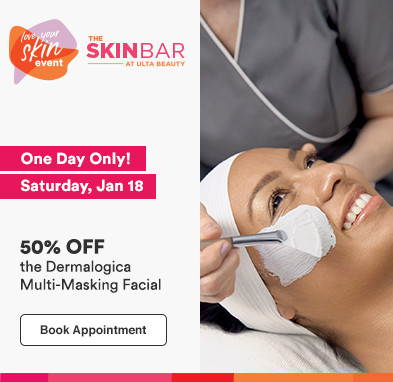One day only, Sat 1/18. 50% off the Dermalogica Multi-Masking Facial