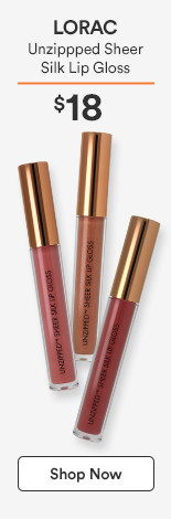 Unzippped Sheer Silk Lip Gloss $18