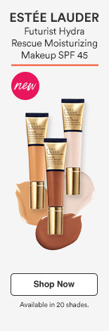 New! Futurist Hydra Rescue Moisturizing Makeup $45 available in 20 shades