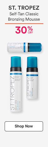 30% off St. Tropez Self-Tan Classic Bronzing Mousse reg. $18-42 now $12.60-29.40