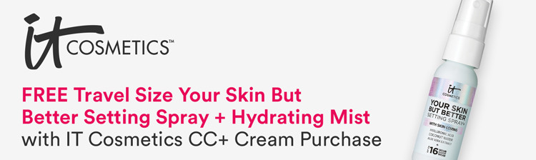 FREE Travel Size Your Skin But Better Setting Spray + Hydrating Mist With IT Cosmetics Foundation Purchase