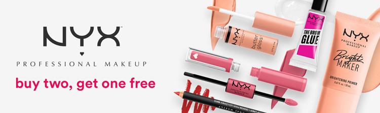 NYX Buy 2, Get 1 Free
